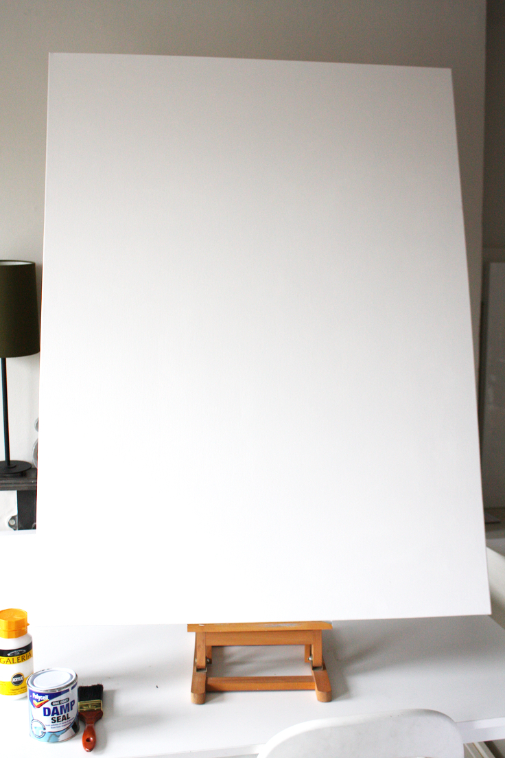 How to make a large canvas art