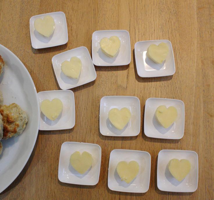 Cute Butter Hearts