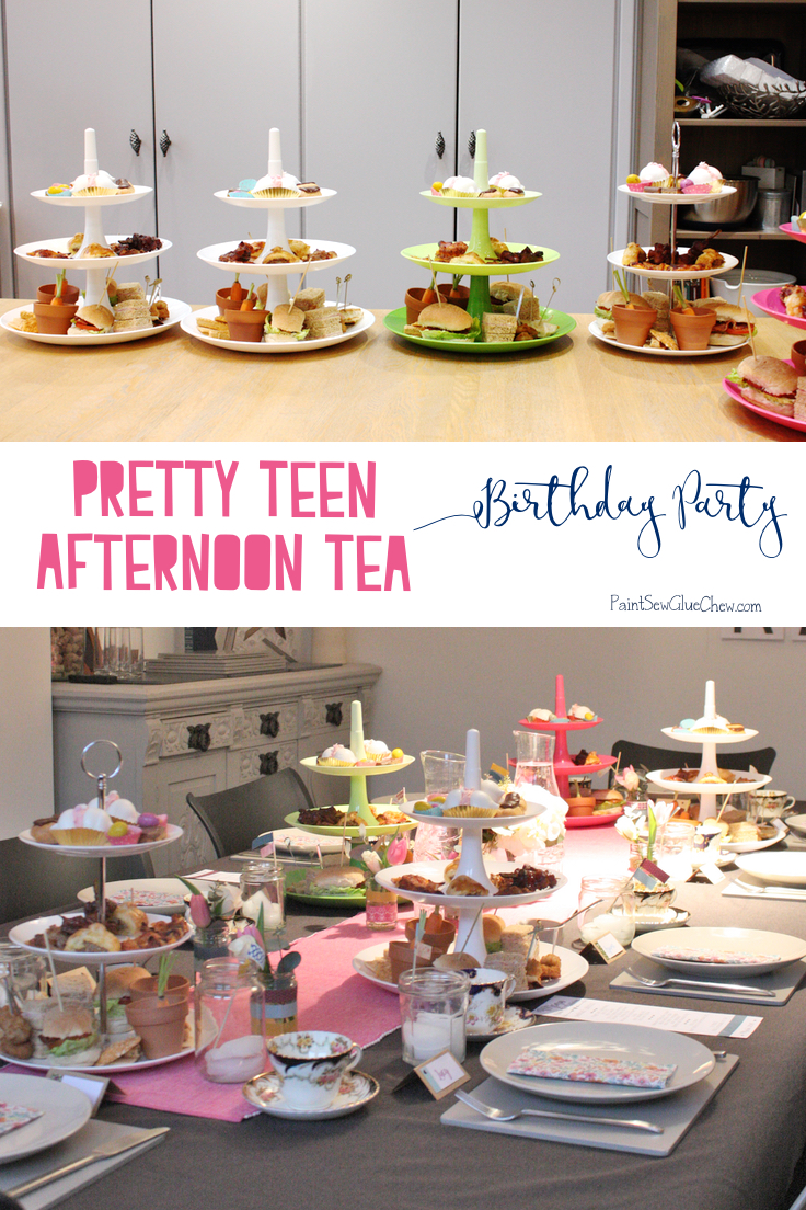 Teen Afternoon Tea Birthday Party Paintsewgluechew