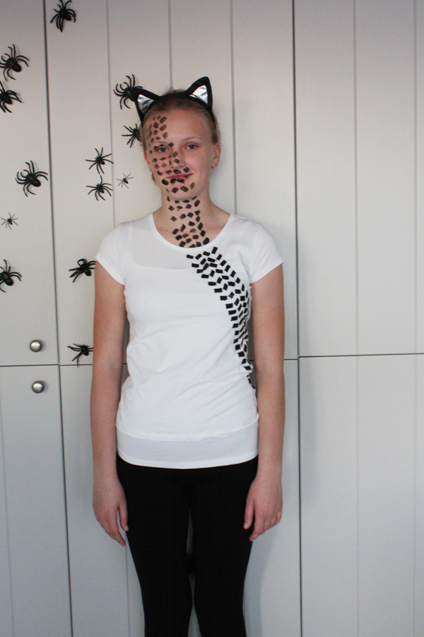 girl in a Road kill costume