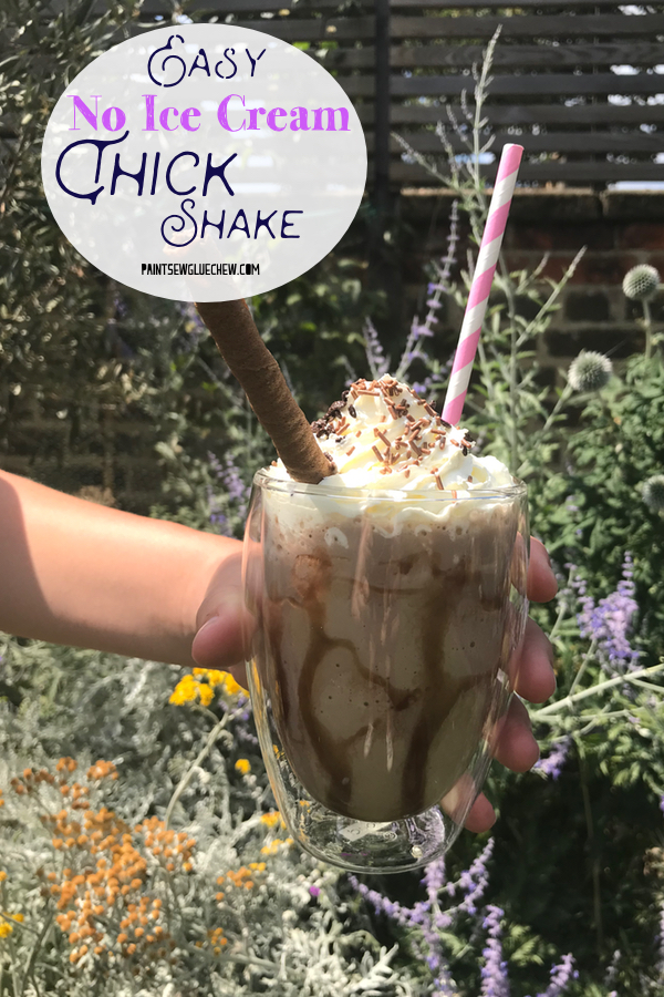Beautiful chocolate thick shake with cream and sprinkles