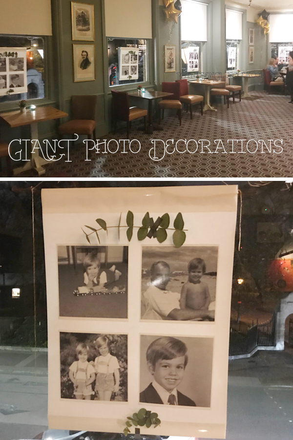Photos used as party decoratoins