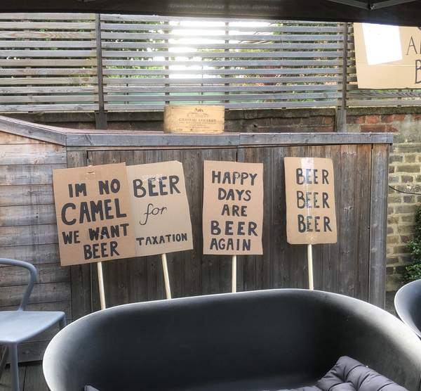 prohibition placards as speakeasy party decor