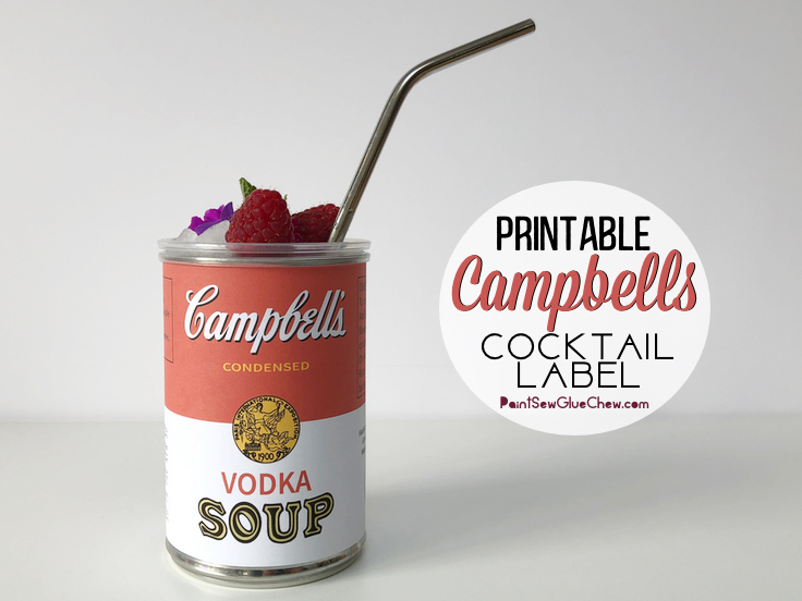 Campbells soup cocktail printable label