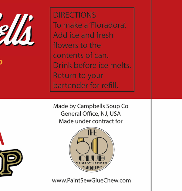 bespoke campbells soup can label