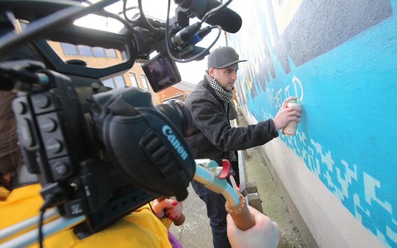 GOV UK - CREATE UK BOURNEMOUTH OOH ADVERTISING GRAFFITI STREET ART MURAL BY PAINTSHOP STUDIO