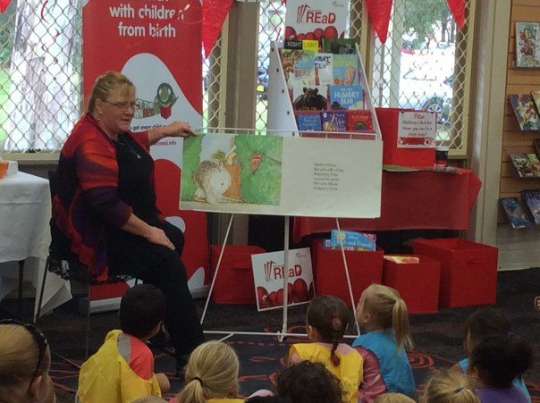Children listen to Shellharbour Mayor reading to them