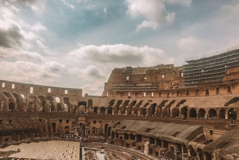 inside of the roman colosseum