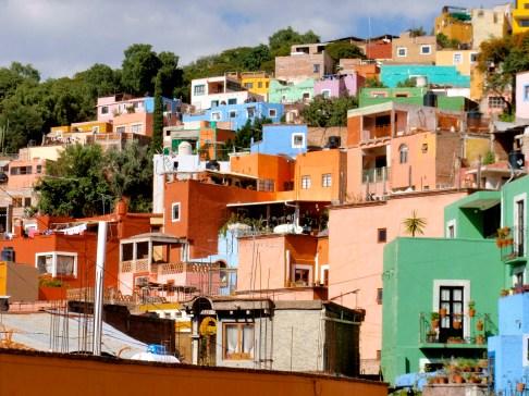 Colorful hillside ~ Guanajuato