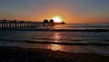 I am mesmerized as the sun slips below the horizon.