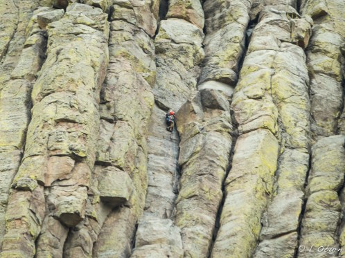 Climber tackling yet another route