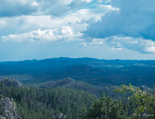 The notorious daily storm clouds over the Custer Black Hills