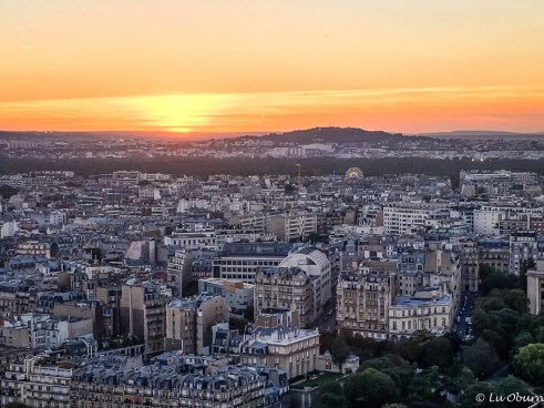 Sunset from atop the Eiffel Tower