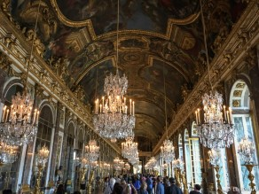 The most famous room in the palace, the Hall of Mirrors