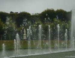 This fountain constantly changed with the rhythm of the music.