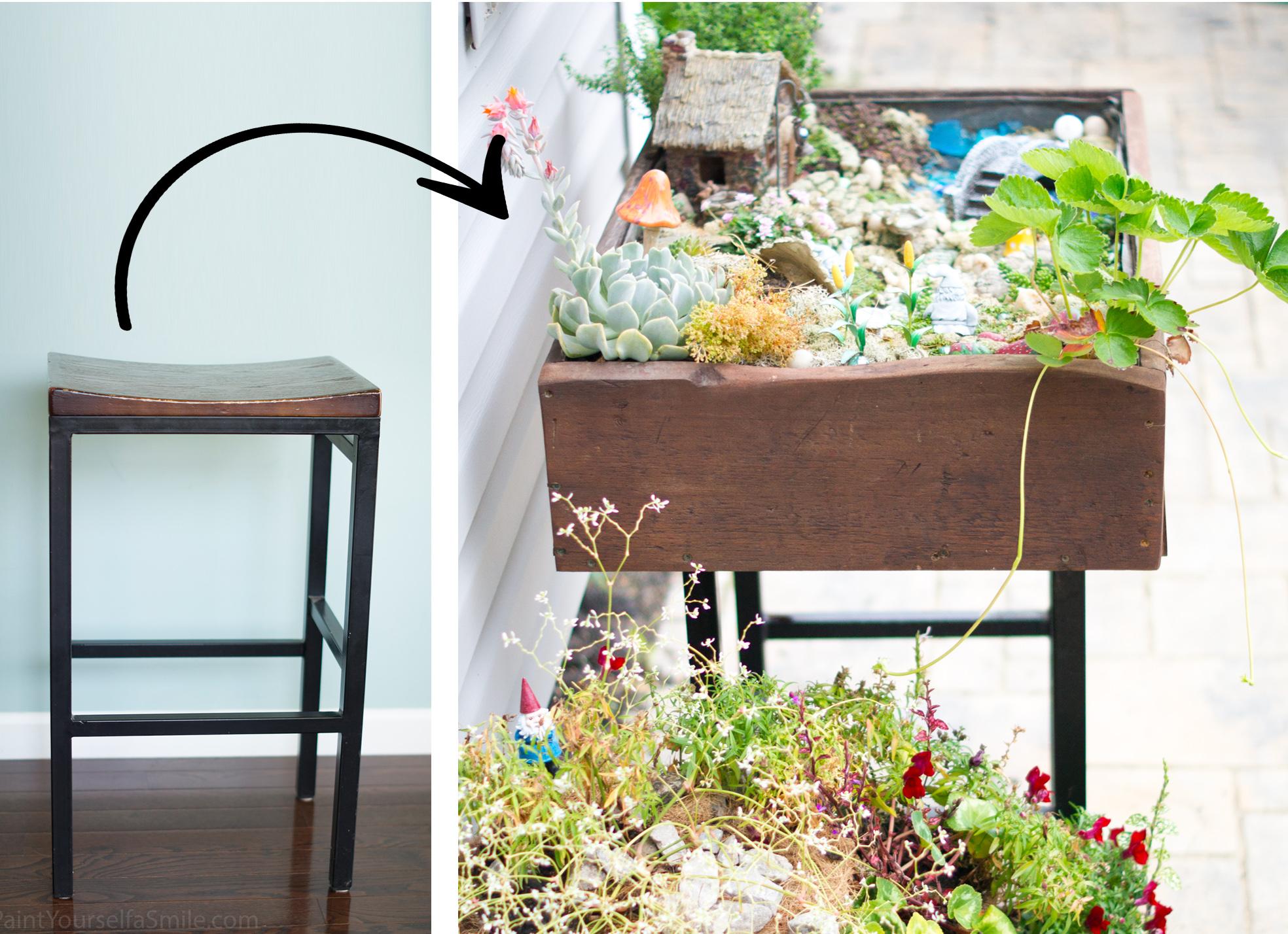 Patio garden box