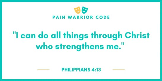"""Graphic that reads: """"I can do all things though Christ who strengthens me."""", Philippians 4:13"""