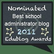 """edublogs nomination - best school admin blog"""