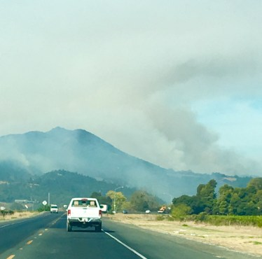 Napa fire in yountville