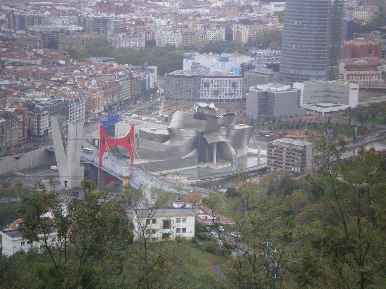 El Guggenheim visto desde el Monte Artxanda