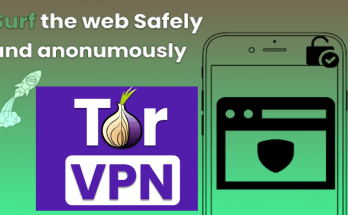 Icon of the Tor vpn free app for android containing onion sign of vpn