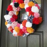 The Easiest Pom Pom Wreath Diy Boho Christmas Decor Paisley Sparrow