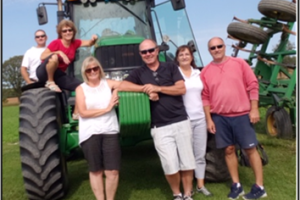 car rally group at tractor