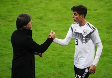 Kai Havertz and Joachim Low