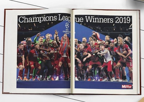 Personalised Liverpool FC History Book