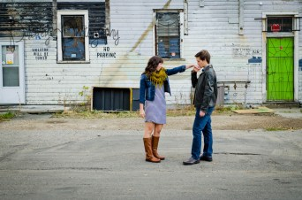 Back Alley Engagement Photography - Cirty Engagements - Urban Couple Photos - Cochrane Engagement Photographer