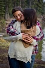 Canmore Wedding Photographer - Camping Engagement Photos - Blanket Engagement Photography - Banff Wedding Photos