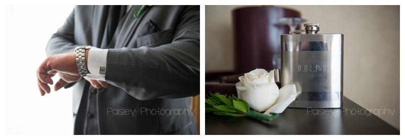 Groom Getting Ready Wedding Photos Banff