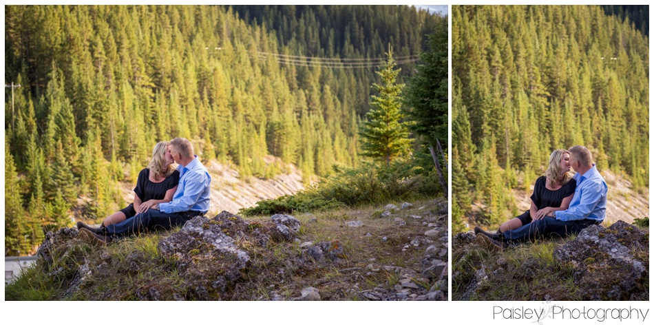 Lake Minnewanka Engagement Photography