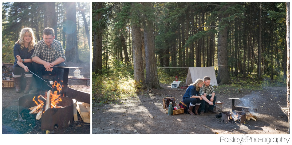 Camping themed Engagement Photography
