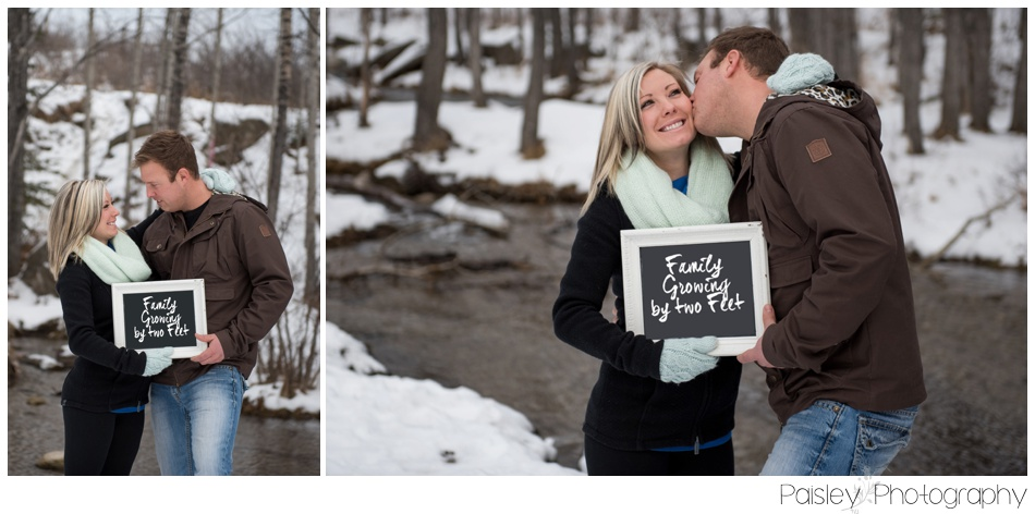 Calgary Pregnancy Announcement Photography Big Hill