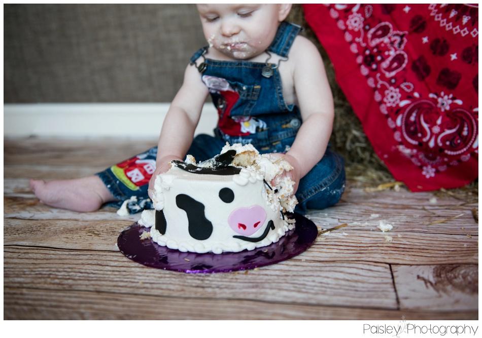 Cowboy Theme Cake Smash, Calgary Cake Smash Photography, Cake Smash Photographer Calgary, Cake Smash Photographer, Country Cake Smash, Country themed Cake Smash, 1st Birthday Photo Session