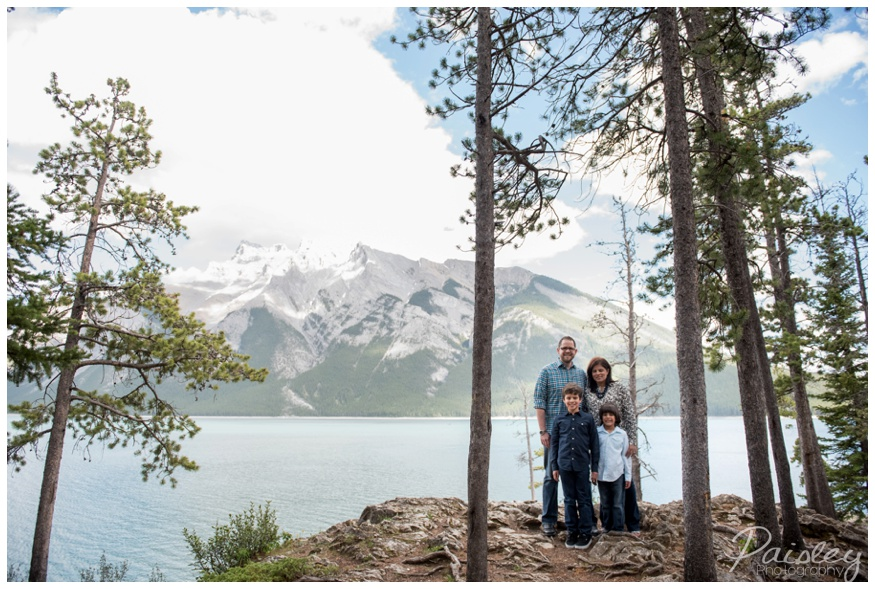 Mountain Lake Family Photos Banff