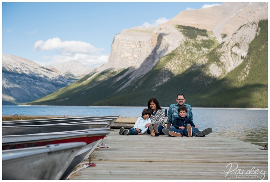 Lake Minnewanka Dock Family Photography