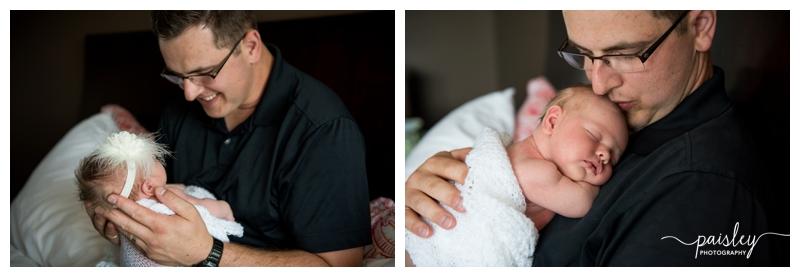 Dad & Baby Newborn Photography Calgary