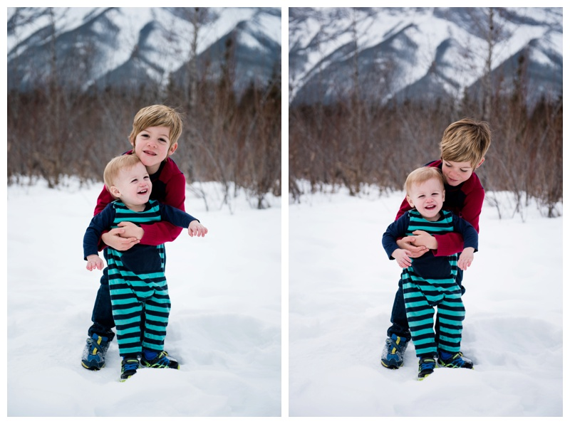 Winter Family Photography Canmore