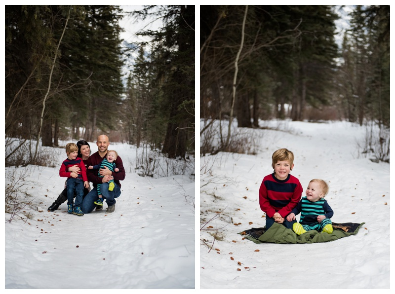 Winter Family Photography Canmore Alberta