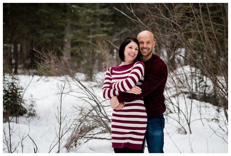 Winter Couple Photography Canmore Alberta