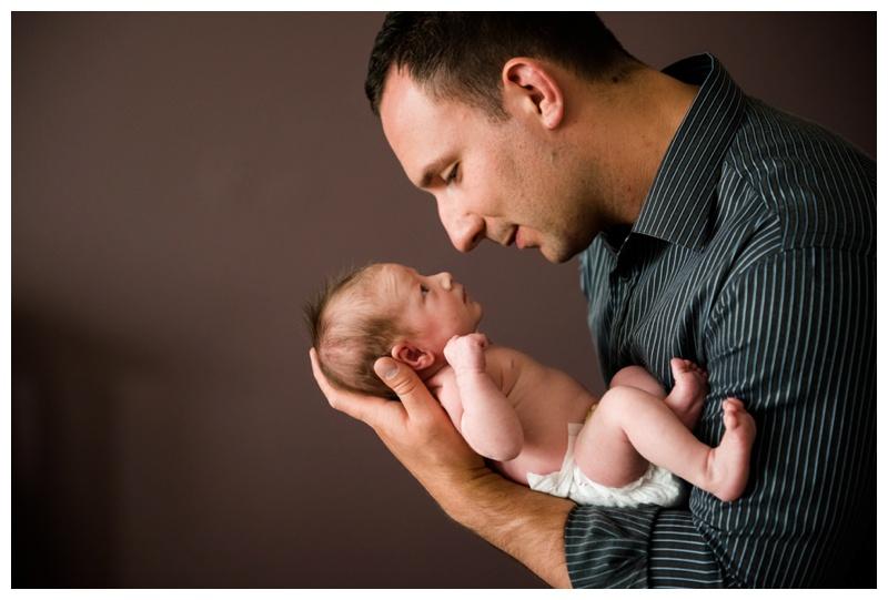 Dad & Daughter Newborn Photography