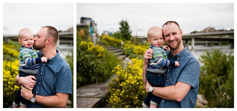Dad and Son Family Photos Calgary