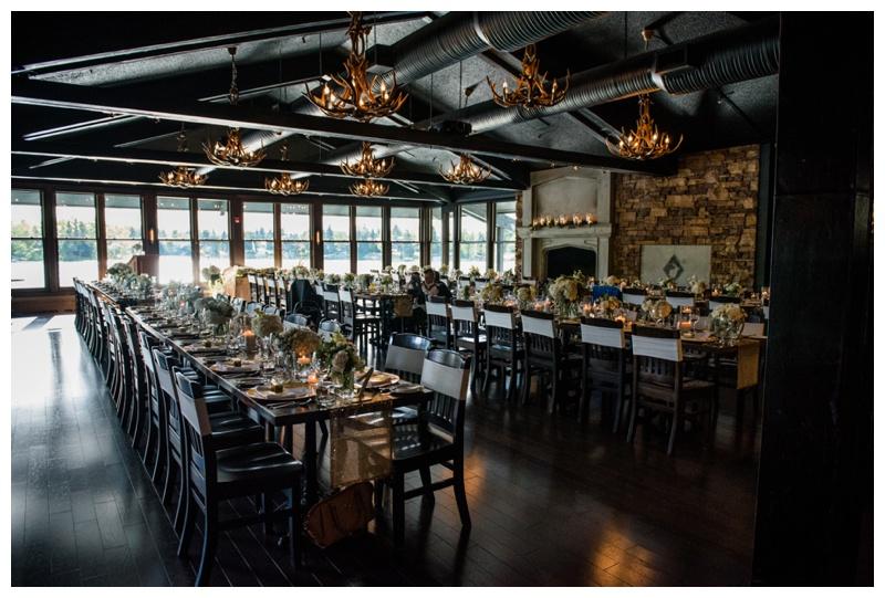 The Lake House Calgary Wedding Reception