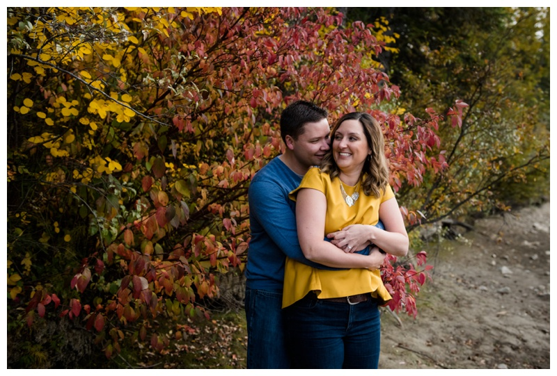 Fall Engagement Photos Canmore