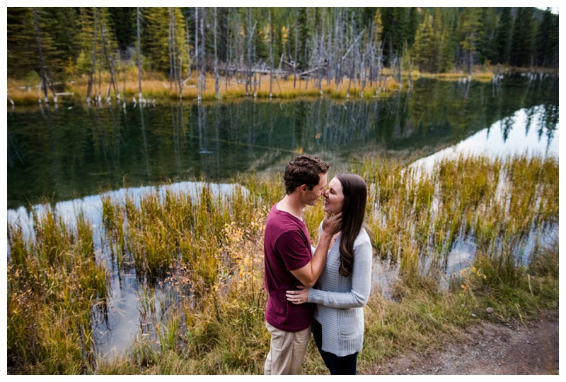 Mountain engagement Photos Canmore