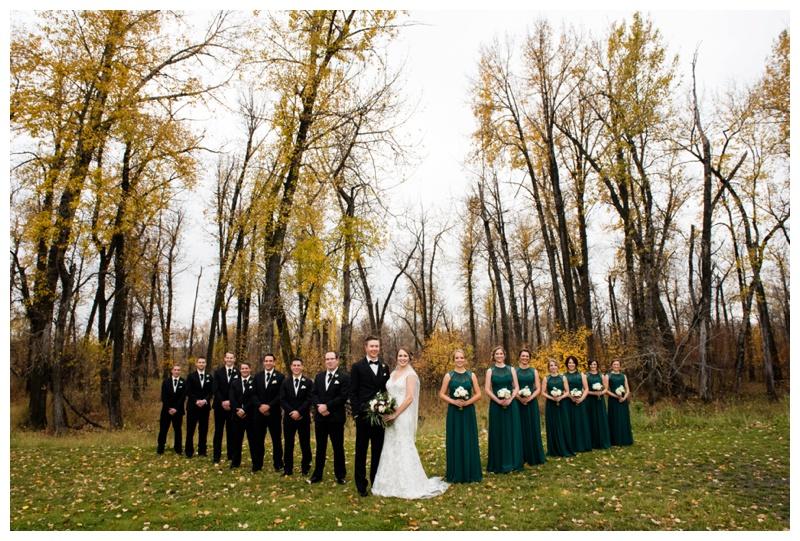 Fall Wedding Party Photos Calgary