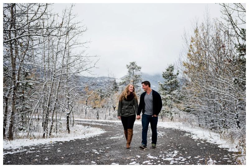 Winter Kananaskis Engagement Photography