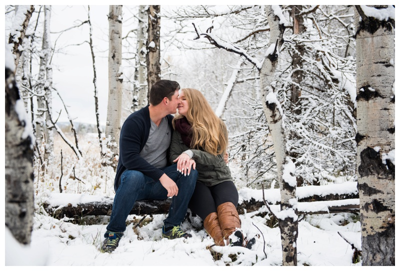 Winter Engagement Photos Canmore